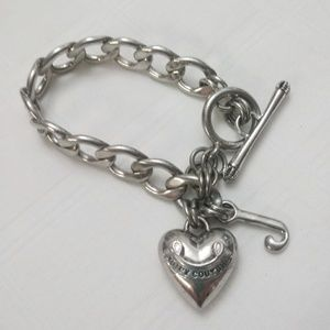 Juicy Couture Puffy Heart Chain Bracelet